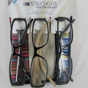 Foster Grant Xtra Sight Reading Glasses with Cases